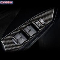 For LEXUS CT200h F SPORT LHD RHD Car Interior Carbon Fiber Window Control Switch Panel Auto Sticker Decor Accessories
