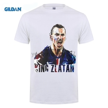 цена GILDAN designer t shirt Summer zlatan ibrahimovic Printed Men's T-Shirt Short Sleeve 100% Cotton O-Neck Fashion T Shirt онлайн в 2017 году