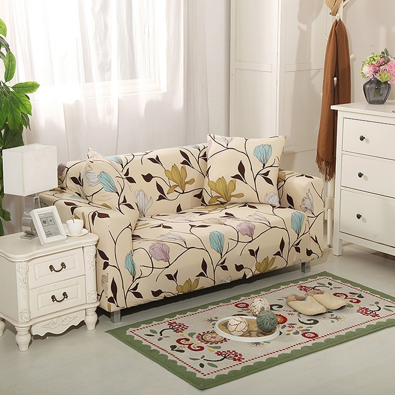 Us 5 89 30 Off Colorful Flower Print Sofa Cover Modern Polyester Elastic Couch Slipcovers For Living Room Chair Furniture Protector In