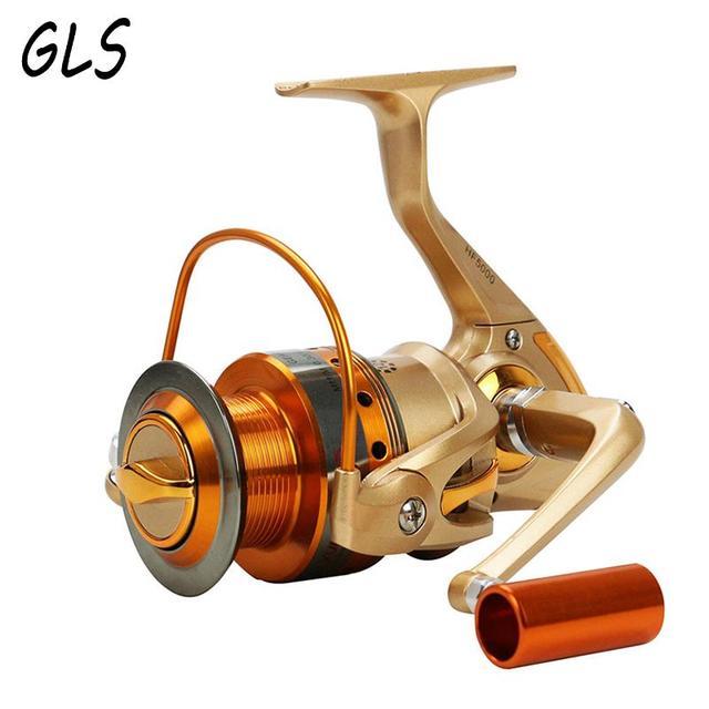 2019 New 500-9000series12BB 5.5:1 Spining reel Full Metal Fishing wheel Rotate the spool Fishing reel