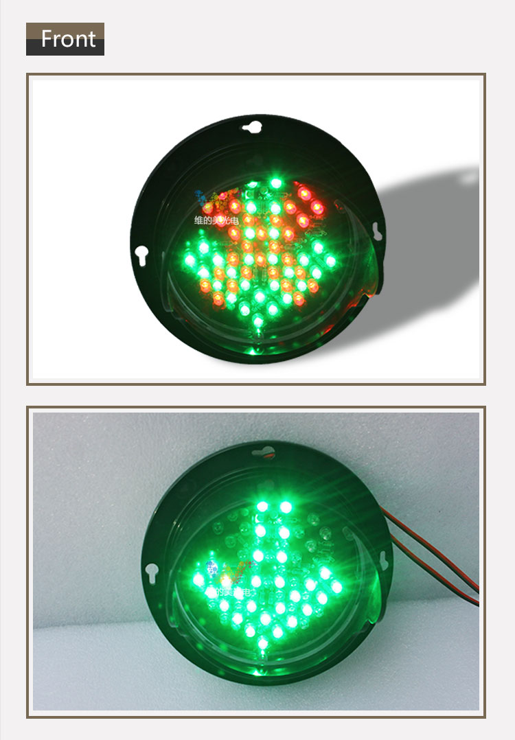100mm DC 24V LED Red Cross Green Arrow Car Parking Washing 4 Pieces And 8 Pieces C52 4 Red And 4 Green