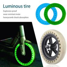 Fluorescent Durable Tire Solid Wheels For Electric Scooter Shock Absorption Accessories Xiaomi M365