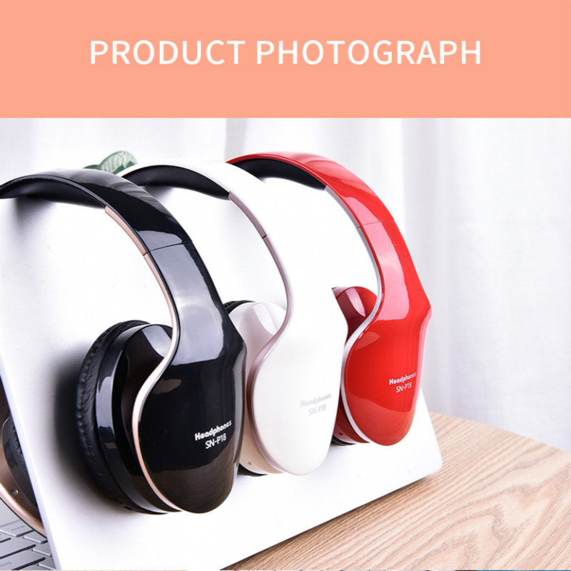 wireless bluetooth headphones foldable with stereo sound for gaming with microphone