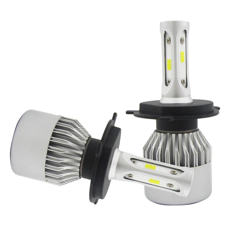 COB H4 HB2 9003 55W 11000LM LED Headlight Kit Hi/Lo Power Bulbs 6000K