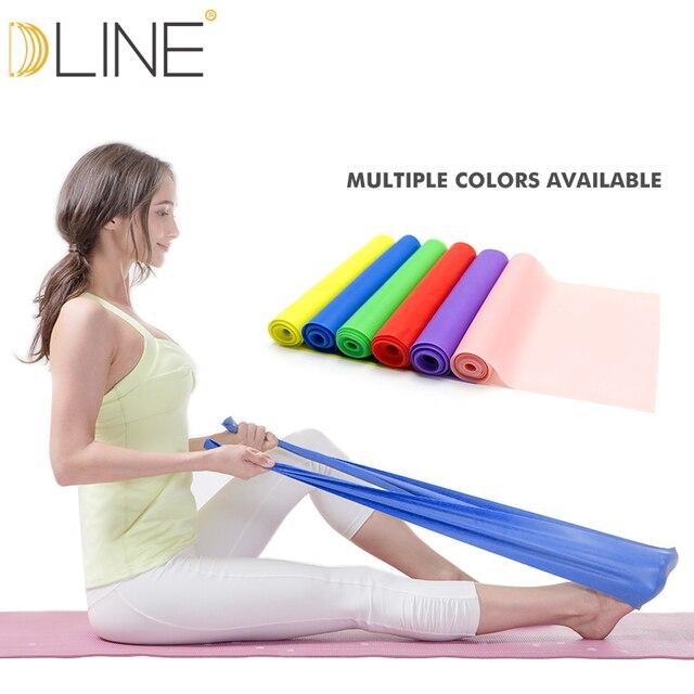 1.5 m Pilates elastyczna opaska dla taśmy oporowe do ćwiczeń opaski gumowe joga Stretching pas Pull up siłownia ciała taśma do ćwiczeń