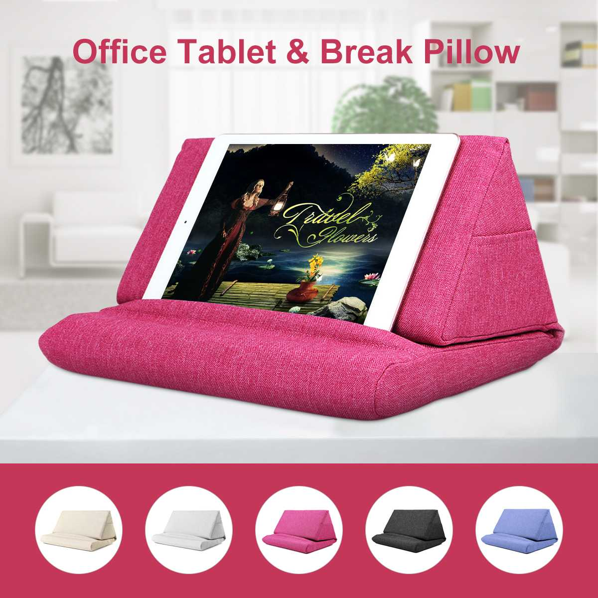 laptop tablet pillow foam lapdesk multifunction laptop cooling pad tablet stand holder stand lap rest cushion for ipad with bag