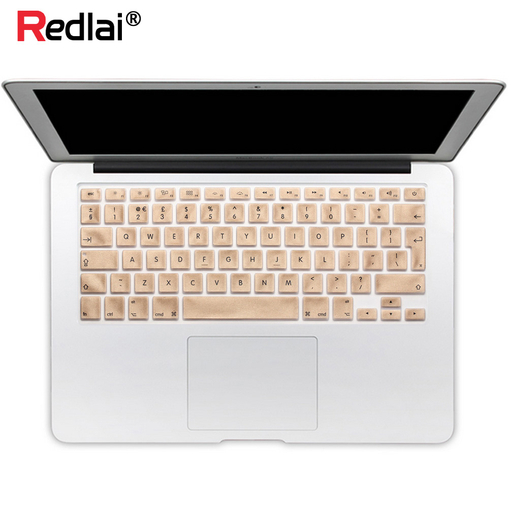 "Redlai Silicone EU / UK Engels Toetsenbord Cover Macbook Pro Retina 13 15 17 ""Voor Mac Book Air 13"" Keyboard Flim Skin stickers"