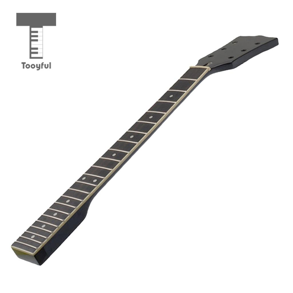 Tooyful Polished Electric Guitar Maple Wood Neck 22 Fret Rosewood Fretboard for LP Style Guitar Unfinished Accessory one left unfinished guitar neck electric guitar neck solid wood 22 fret new rosewood fingerboard