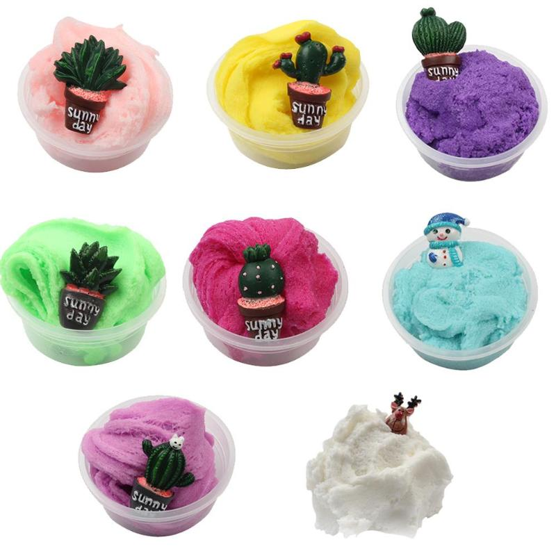 Learning & Education Diy Slime Modeling Clay Fluffy Foam Stress Relief Kid Cotton Mud Sludge Toy