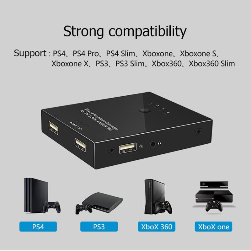Mouse and Keyboard Converter Adapter for PS4/PS3/XBO XONE/XBOX 360 Switch High Quality Mouse and Keyboard Converter Accessory Mouse and Keyboard Converter Adapter for PS4/PS3/XBO XONE/XBOX 360 Switch High Quality Mouse and Keyboard Converter Accessory