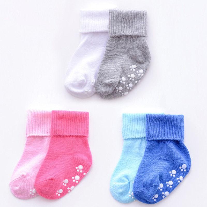 New Autumn Winter Soft Cotton Cute Baby Anti-slip Socks Newborn Infant Toddler Boys Girls Comfortable Ankle Socks For 0-6 Years