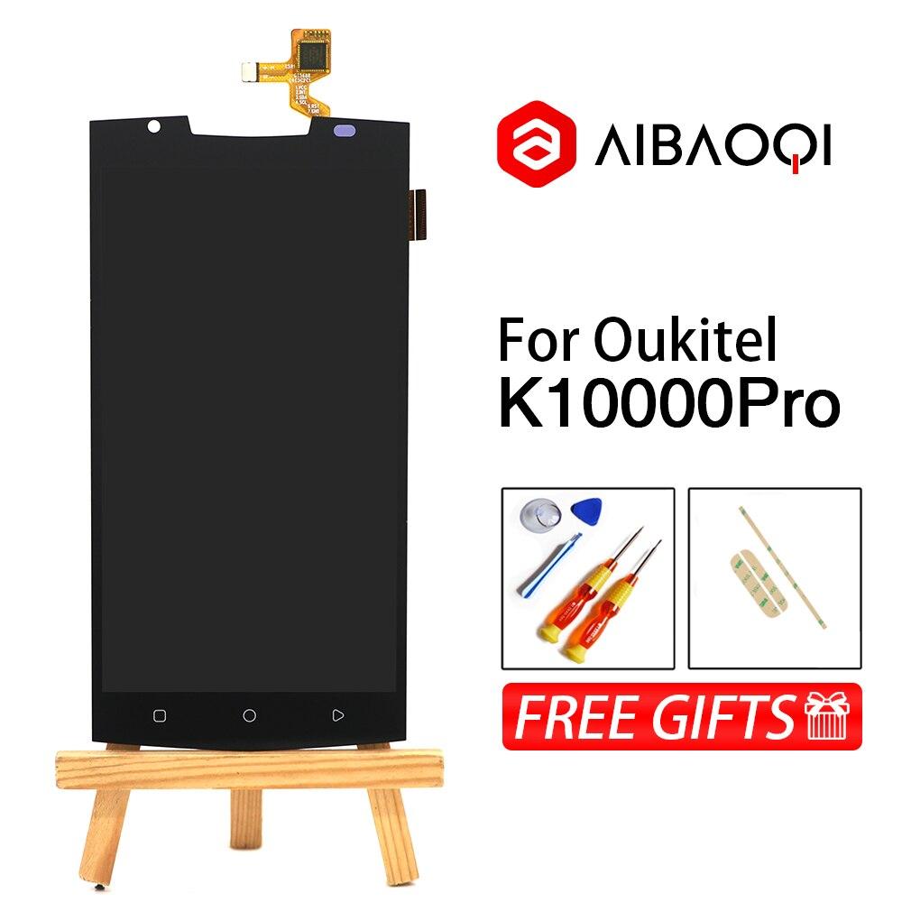 AiBaoQi 100% nueva pantalla táctil de 5,5 pulgadas + 1920x1080 reemplazo de montaje de pantalla LCD para teléfono Oukitel K10000 Pro Android 7,0-in Teléfono Móvil LCD pantallas from Teléfonos celulares y telecomunicaciones on AliExpress