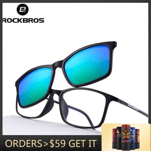 da0ce435e5 Special Price ROCKBROS Customized Myopia Sunglasses UV400 Nearsighted  Glasses Double Lens Polarized Lens Cycling Driving Bike