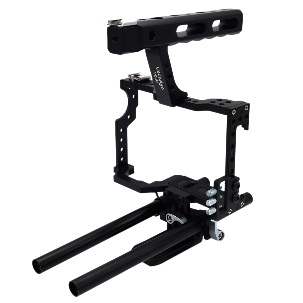 Veledge Vd-07 Rod Rig Dslr Camera Video Cage Kit Stabilizer For Sony Gh4 A7S A7 A7R A7Rii A7Sii Camera Accessories Durable