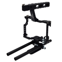 Veledge Vd-07 Rod Rig Dslr Camera Video Cage Kit Stabilizer For Sony Gh4 A7S A7 A7R A7Rii A7Sii Camera Accessories Durable f17724 5 smg ext 3 axle handheld gimbal camera mount stabilizer support bluetooth app for a7s gh4 bmpcc dslr dv