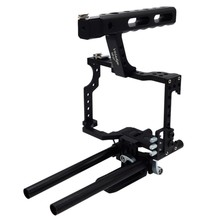 Veledge Vd-07 Rod Rig Dslr Camera Video Cage Kit Stabilizer For Sony Gh4 A7S A7 A7R A7Rii A7Sii Camera Accessories Durable(China)