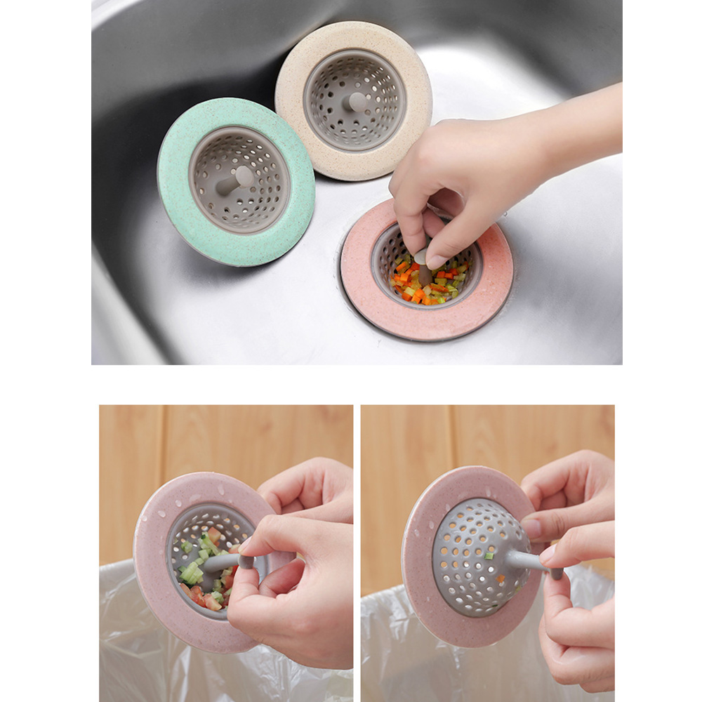 New Silicone Kitchen Sink Strainer Bathroom Shower  Removable Drain Floor Hole Cover Sink Colander Sewer Hair Filter Accessories