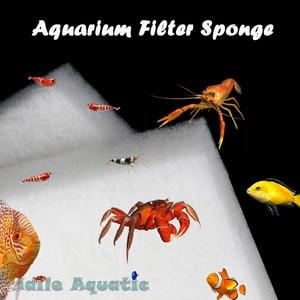 Haile Aquatic Brand New Durable Filter Sponge Foam Pad Aquarium Wool Fish Tank Pond Sump Canister White Washable(China)