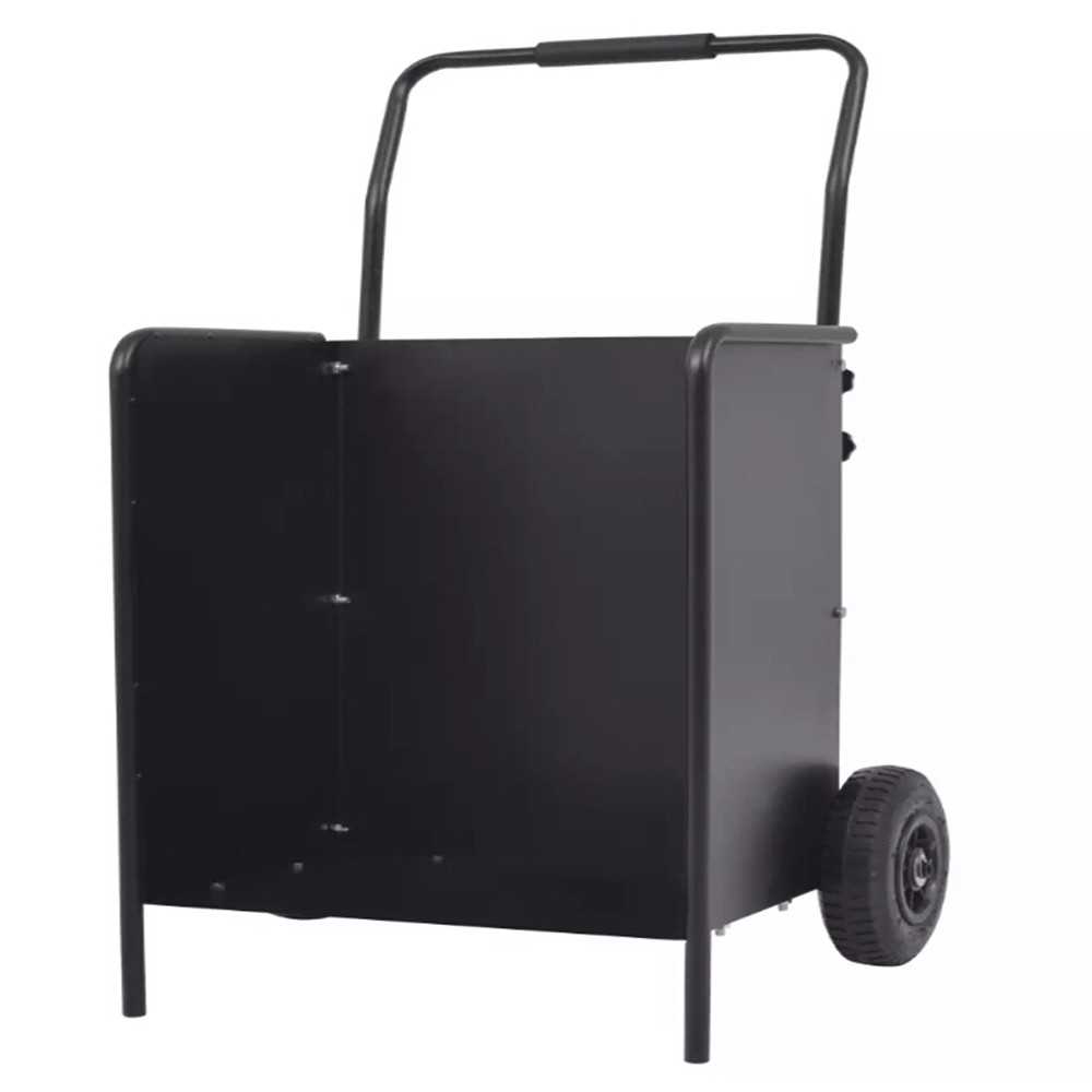 VidaXL Powder-Coated Steel Firewood Cart