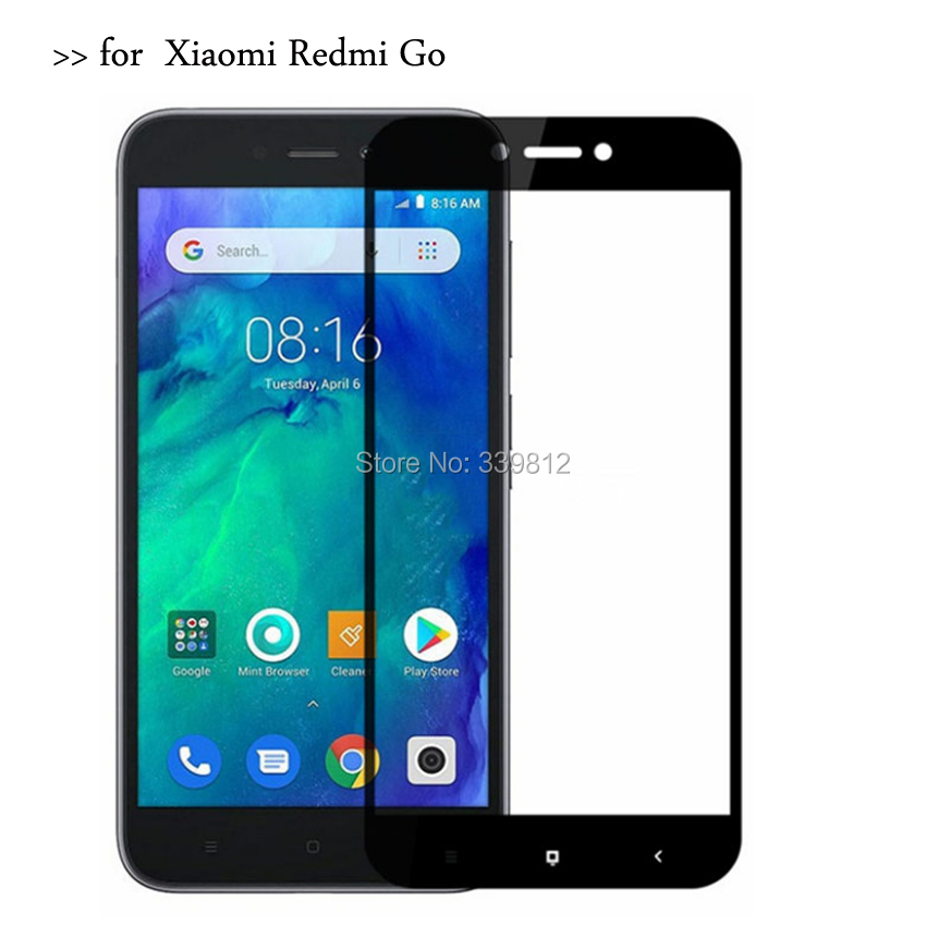 Image 2 - 2.5D 9H Explosion proof Tempered Glass Protective For Xiaomi Redmi Go Full Cover Mobile phone Screen Protector Film-in Phone Screen Protectors from Cellphones & Telecommunications