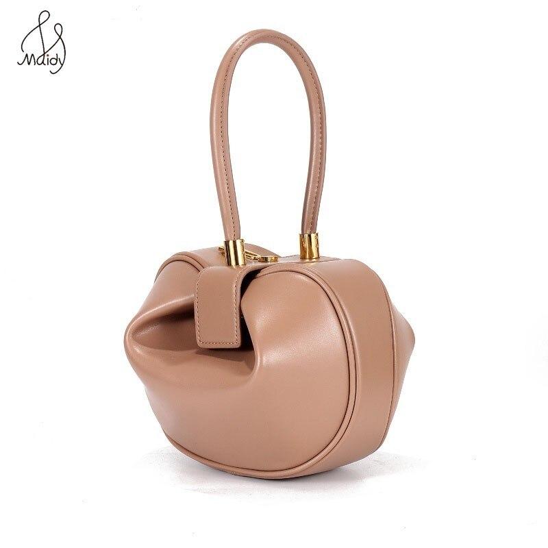 Vintage Genuine Cowhide Leather Handbags For Women Shell Bag Cross Body Handbags Ladies Purses Satchel Shoulder