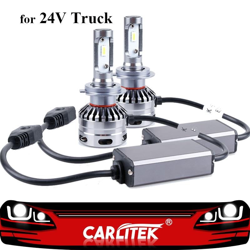 CARLitek 24V Truck Lights Led H7 Lamp Bulb 16000LM 6000K 80W Super Bright CSP Headlight Led