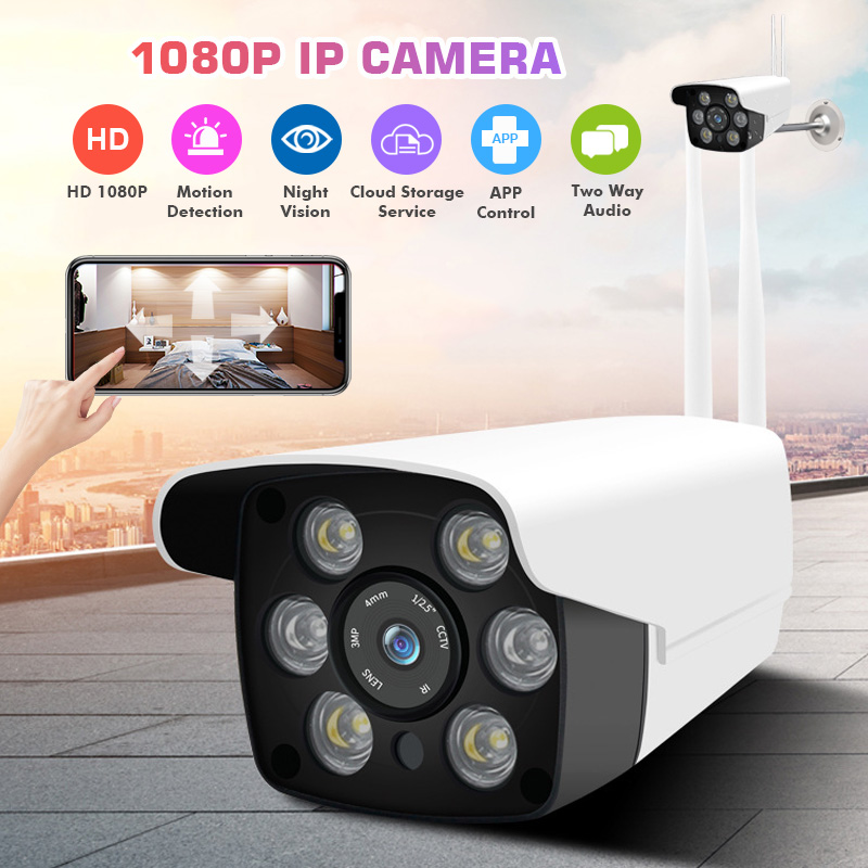 HD 1080P WiFi Security Camera - 3.6mm  Waterproof for Outdoor/Indoor IP66 Camera Support Max 64g SD Card with BracketHD 1080P WiFi Security Camera - 3.6mm  Waterproof for Outdoor/Indoor IP66 Camera Support Max 64g SD Card with Bracket