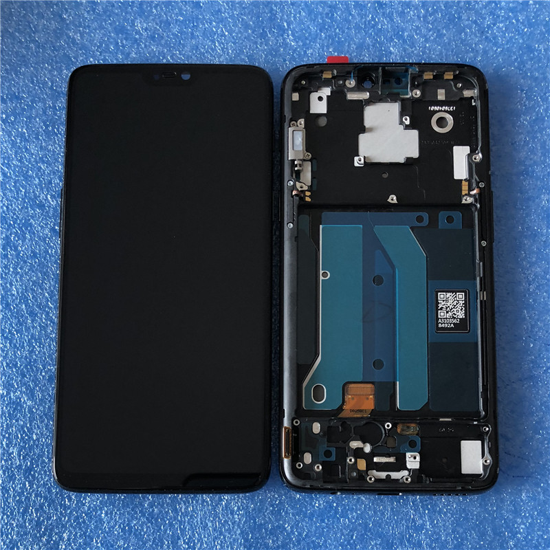 """Image 2 - Original LCD Display With Frame For 6.28"""" Oneplus 6 Axisinternational Super AMOLED LCD Screen Display+Touch Panel Digitizer-in Mobile Phone LCD Screens from Cellphones & Telecommunications on"""