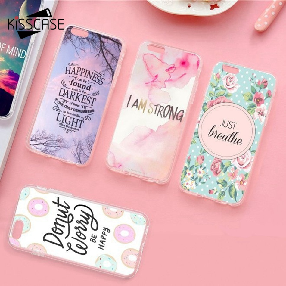 KISSCASE Fashion Motivating Language Patterned Phone Cases For Samsung S9 S8 Plus S6 S7 Edge A3 A5 A7 J3 J5 J7 2016 2017 Covers in Fitted Cases from Cellphones Telecommunications