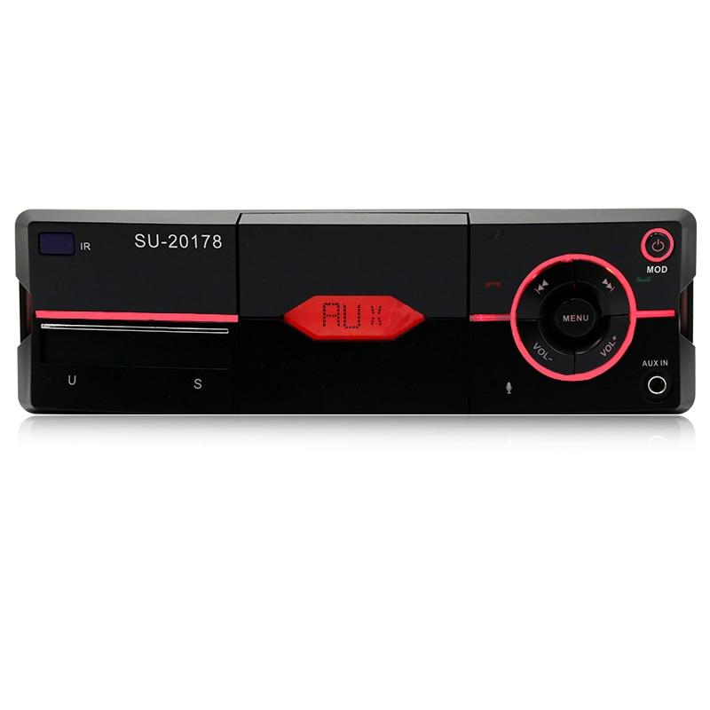 1 autoradio Bluetooth mains libres FM Supports stéréo support pour voiture USB MP3 WMA chargeur CD AUX Auto Radio