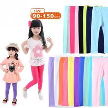 Леггинсы для девочек; Зимние Модные эластичные леггинсы ярких цветов; брюки для маленьких девочек; детские штаны; обтягивающие леггинсы; однотонные;#15