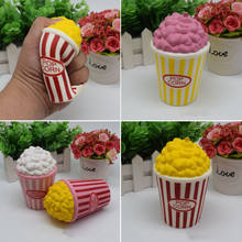 2018 Newest Hot Jumbo Squeeze Stress Stretch Squishy Popcorn Cream Scented Slow Rising Toy Gift(China)