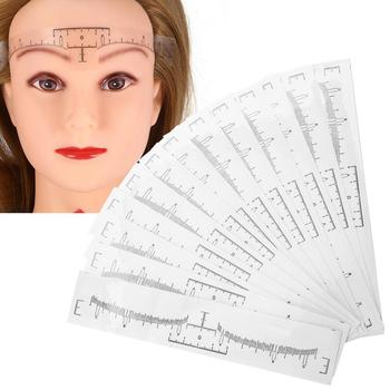 XY Fancy Disposable Eyebrow Ruler Sticker Eyebrow Shaping Tools Makeup Measurement Stencil Makeup Drawing Template