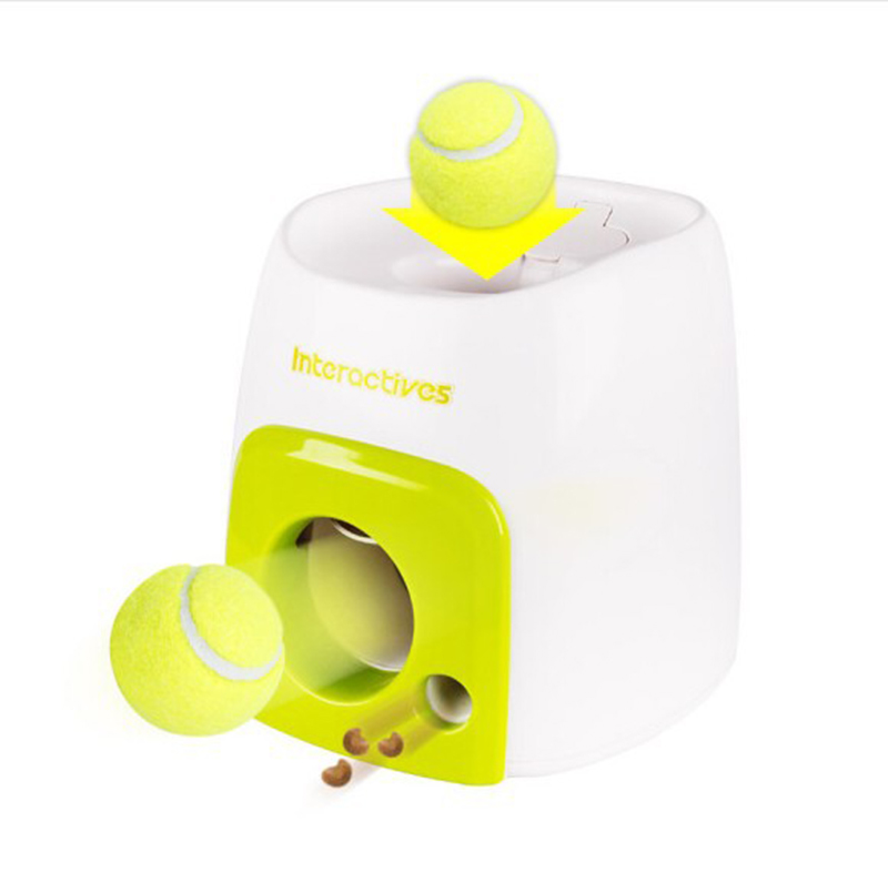 High quality Intelligence Pets Dog Falling Tennis Ball Toys Throwing Mmachine Pet Balls Pet Ball Throw Device Pet Products