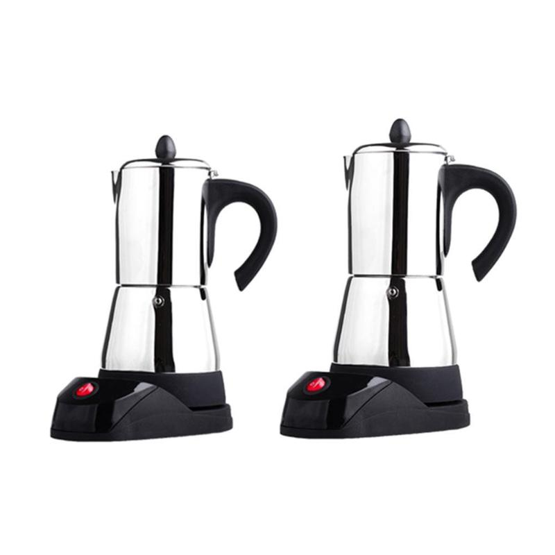 200 300ML Stainless Steel Coffee Pot Electric Moka Coffee Maker Teapot Filter Percolator Cafetiere Tool Mocha