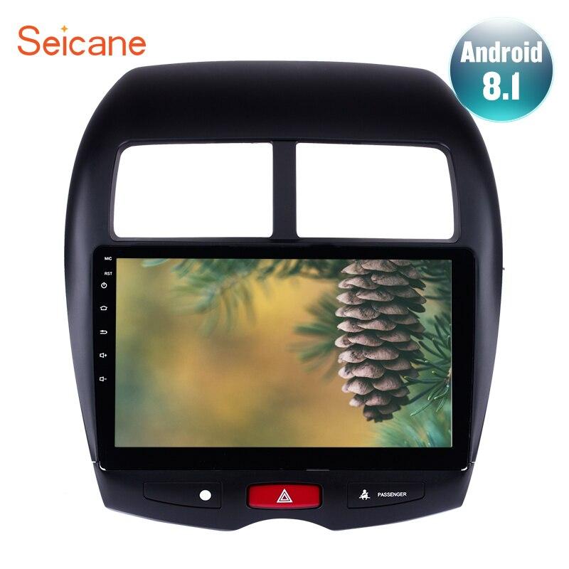 Seicane 10.1 2Din Android 8.1 GPS De Voiture Radio Pour CITROEN C4 2010-2015 Mitsubishi ASX Peugeot 4008 Audio lecteur Soutien DVR