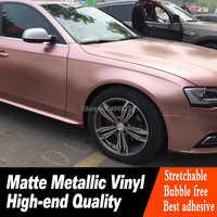 rose gold Vinyl Wrap With Air release Satin film For Car Wrap Vehicle Wraps covering Size 5ft X 65ft/Roll No after sales worries