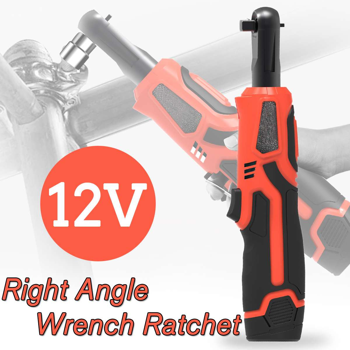 12V Cordless Electric Wrench 3/8 Inch Electric Ratchet Wrench Lithium Battery Right Angle Wrench with Led Light Car Repair Tools12V Cordless Electric Wrench 3/8 Inch Electric Ratchet Wrench Lithium Battery Right Angle Wrench with Led Light Car Repair Tools