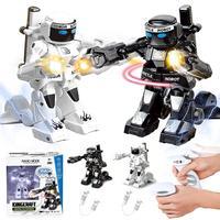Rc robô de brinquedo de combate robô controle rc batalha robô brinquedo com luz som controle remoto brinquedos corpo sentido para meninos crianças presente