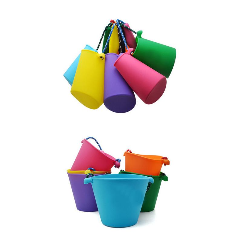 Toys & Hobbies Aggressive 4 Colors Baby Kids Shower Bath Toy Beach Bucket Silicone Folding Hand-held Barrel Toy Water Spraying Tool Baby Childrens Toy Commodities Are Available Without Restriction Beach/sand Toys