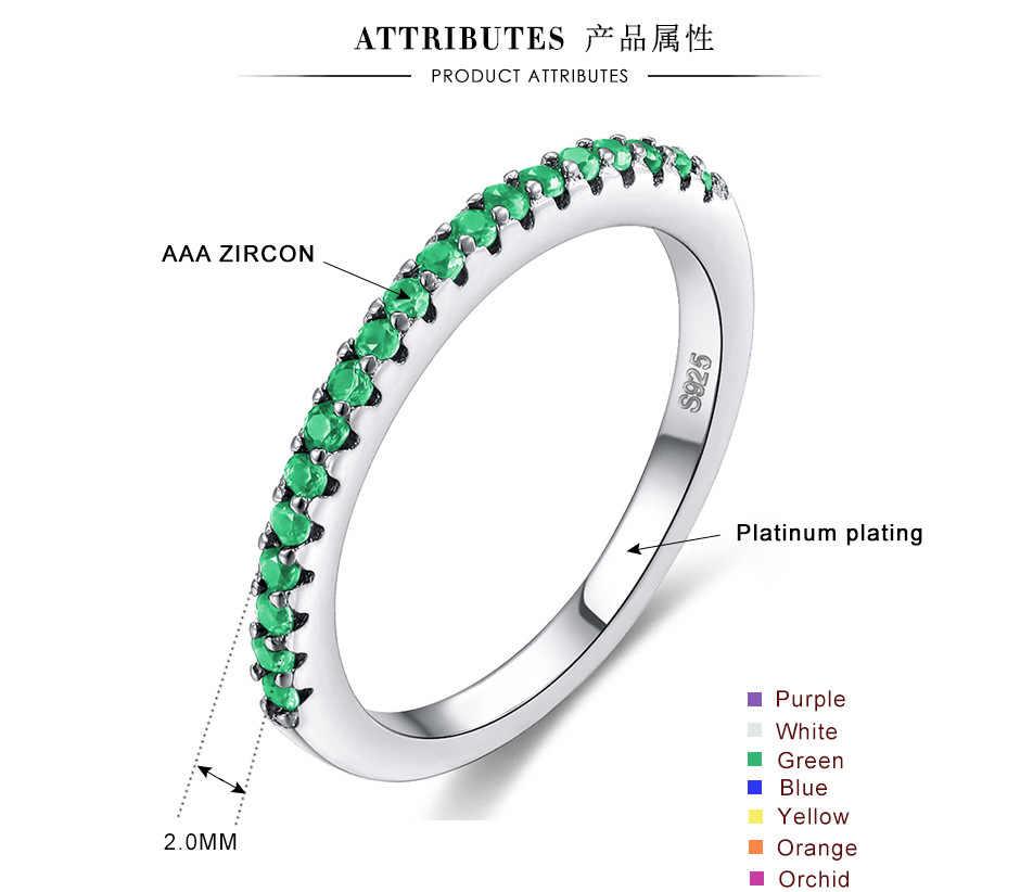 Zircon เงิน 925 แหวนแต่งงานผู้หญิงงานแต่งงานแฟชั่นเครื่องประดับหมั้น Love แหวนแหวนวันเกิดของขวัญ Bohemian