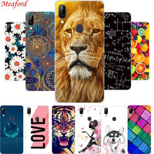S5Pro Case For Lenovo S5 Pro 6.2 Soft TPU Back Cover S 5 Silicone Phone case Floral Cool Animal