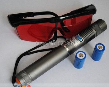 High Power Military Blue Laser Pointers 500w 500000m 450nm Flashlight Burning Match/Dry Wood/candle/black/cigarettes Hunting