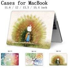 노트북을위한 새로운 맥북 노트북 케이스 슬리브 맥북 에어 프로 레티 나 11 12 13.3 15.4 인치 스크린 프로텍터 키보드 코브