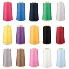 Швейная нить 40S/2 нити, полиэфирная многоцветная катушка, аксессуары для шитья, 3000 ярдов в длину
