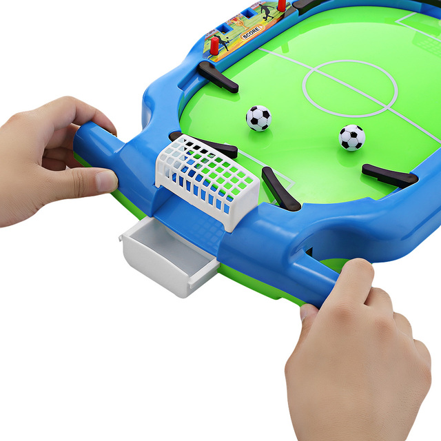 Novel Mini Tabletop Table Soccer Toy Shooting Defending Board Game Football Sport Match Kids Preschool Play Ball Toys 3