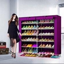 Большая емкость пылезащитный металлический двойной шкаф для обуви, современный водонепроницаемый органайзер для хранения, минималистичные полки для обуви
