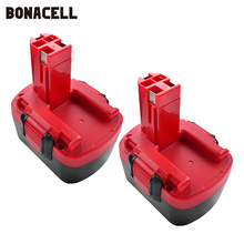 Bonacell For Bosch BAT038 14.4V 3500mAh Rechargeable Battery Pack Power Tool Battery Cordless Drill Replacement for 3660CK L30 free shippingnew replacement power tool battery plastic case and hardwares for bosch 24v