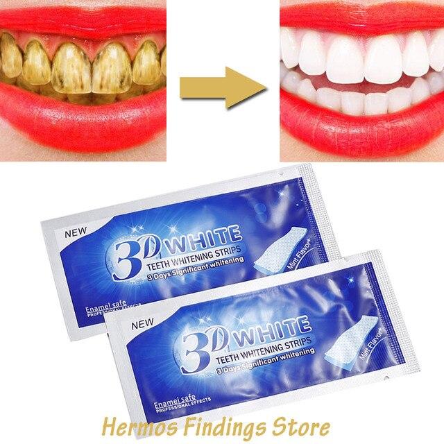 1 Pc 3D diente Gel blanqueador las tiras blanqueadoras de dientes higiene Oral dientes blanquear herramientas Gel Dental blanquear dientes falsos chapas