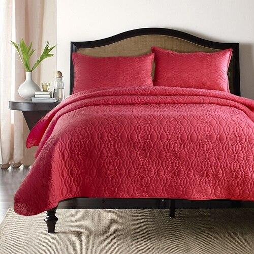 Blanc brun Rose rouge bleu luxe Style européen 100% coton couvre-lit taies d'oreiller drap de lit couverture de lit 220X240 cm 3pcs30